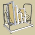 Pojízdný regálový vozík na šablony - návrh